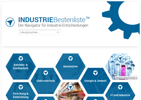 Screenshot: www.industrie-bestenliste.de